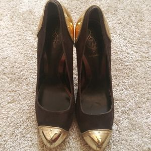 Baby Phat - Gold & Brown Heels Size 7